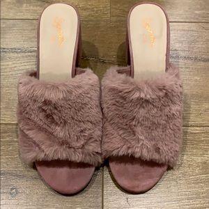Pink Seychelles heels